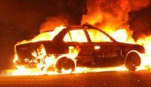 Sigortadan para almak için arabayı yaktılar