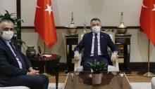 TC Cumhurbaşkanı Yardımcısı Oktay, TBMM-KKTC Parlamentolar arası dostluk grubu heyetini kabul etti