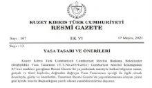 Belediyeler (Değişiklik) Yasa Önerisi halkın bilgisine sunuldu
