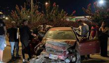 Erülkü Market yakınlarında trafik kazası!