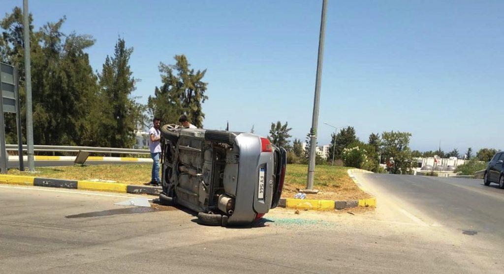 Girne'de dikkatsizlik kaza getirdi