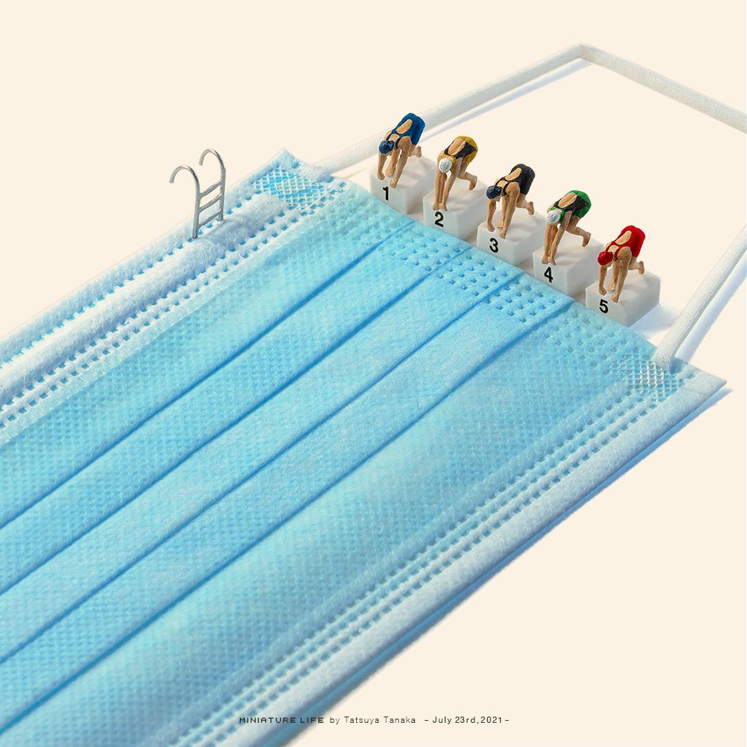 Tatsuya Tanaka'dan minyatür maske olimpiyatları