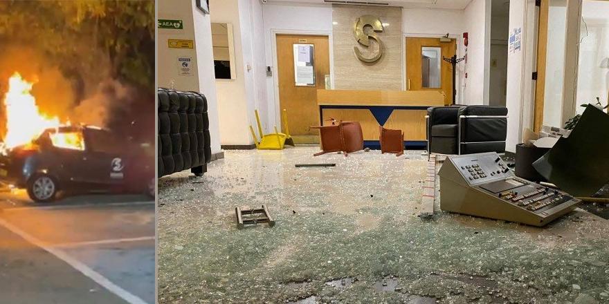 Güneyde olaylı gece: Sigma televizyonuna saldırı