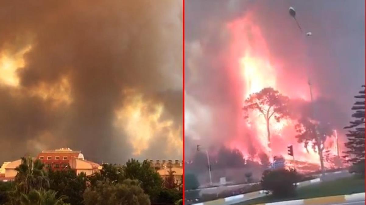 Alevlerin yaklaşık 1 kilometre kadar yaklaştığı Manavgat Devlet Hastanesi tahliye ediliyor