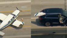 Uçak, arabaya çarptı!