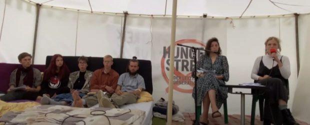 Berlin'de iklim için açlık grevi