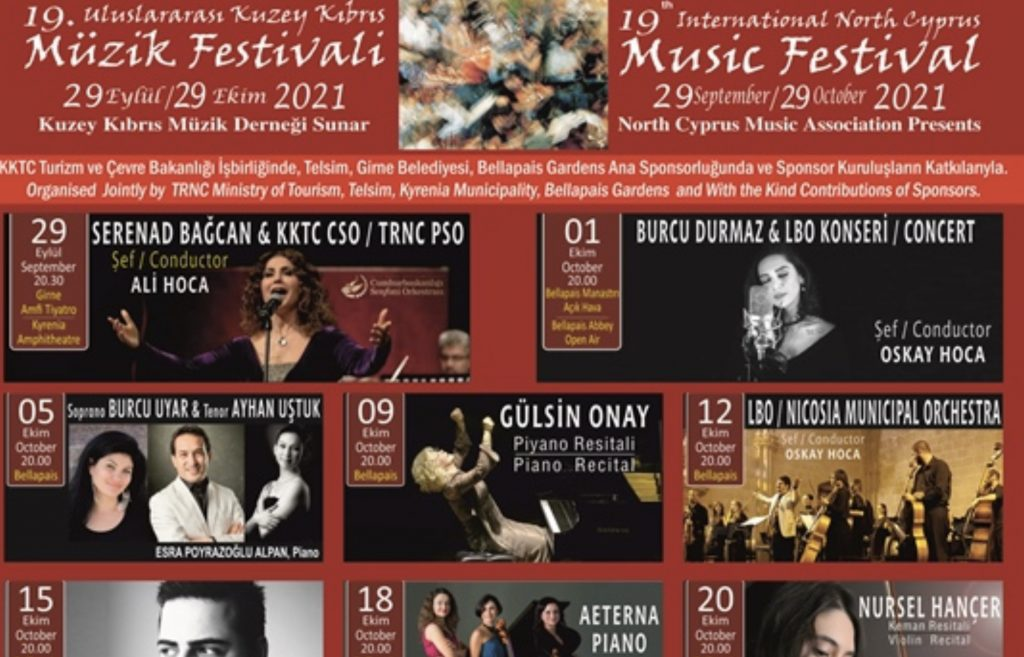 Kuzey Kıbrıs Müzik Festivali başlıyor